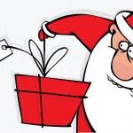 Santa with a big beard and a gift — Stock Vector #14542829