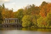 Marble Bridge in Catherine park, Pushkin, Russia — Stock Photo