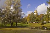 Feodorovsky Cathedral View from the pond — Stock Photo