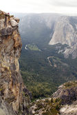 View from Glacier Point in Yosemite national Park.USA — Stock Photo