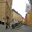 Stockholm city center street scene.Sweeden — Stock Photo #21589105