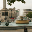Stockfoto: Fountaine and lions on Trafalgar Square in London