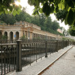 Evening in Carlsbad - Karlovy Vary,Czech famous spa place — Stock Photo