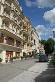 Street of Carlsbad - Karlovy Vary,Czech famous spa place — Stock Photo