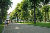 Street Scene Karlovy Vary,Czech famous spa place — Stock Photo