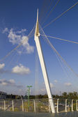 Santiago Calatrava's Sky walk pedestrian bridge. — Stock Photo