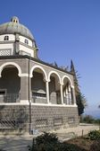 Roman Catholic Franciscan chapel on Mount of Beatitudes in the Galile — Foto Stock