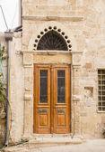 Wooden Decorated  Door in old House — Foto de Stock