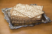 Jewish matzoh — Stock Photo
