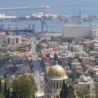 City of Haifa in Israel from the Bahai Garden ,View to Sea and h — Stock Photo