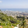 View to Sea and harbor ,City of Haifa in Israel — Stock Photo