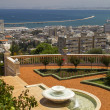 City of Haifa in Israel from the Bahai Gardens — Stock Photo