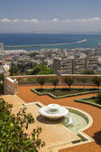 City of Haifa in Israel from the Bahai Gardens — Стоковое фото