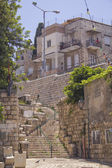 Smalll street in the Vadi Nisnas Quarter, Haifa, Israel. — Stock Photo