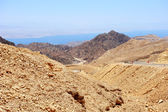 Mountains in the south of Israel, down to the Red Sea — Stock Photo