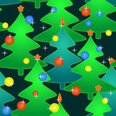 Seamless pattern with holidays christmas-trees — Stock Vector