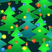 Bezešvé vzor s svátky vánoční stromy — Stock vektor