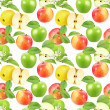 Seamless pattern of apples — Stock Photo