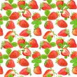 Seamless pattern of strawberry — Stock Photo
