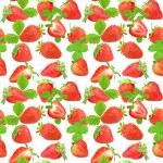 Seamless pattern of strawberry — Stock Photo