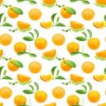 Seamless pattern of oranges — Stock Photo