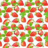 Bezešvé vzor jahody — Stock fotografie