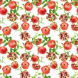 Seamless pattern of pomegranates — Stock Photo