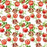 Seamless pattern of pomegranates — Stock Photo