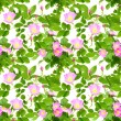 Seamless pattern of dog-roses flowers — Stock Photo