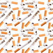 Seamless pattern of cigarette butt — Stock Photo