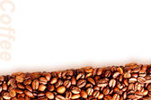 Background of roasted black coffee beans — Stock Photo
