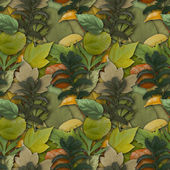 Camouflage seamless background with natural foliage — Stock Photo