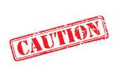 Försiktighet gummistämpel — Stockvektor