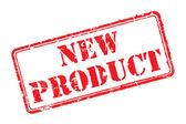 Nieuwe product rubberstempel — Stockvector