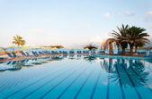 Beautiful swimming pool on shore of Sea — Stock Photo