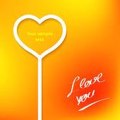 Valentine card — Vettoriale Stock