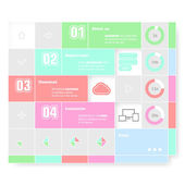 Trendy design infographic — Vector de stock