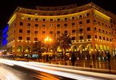 Salonica pela noite, grécia — Fotografia Stock