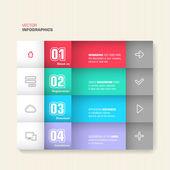 Design alla moda infografica — Vettoriale Stock