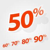 Vector set of labels percent — Stock Vector