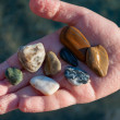 Pebbles from beach — Stock Photo