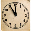 Old cardboard clock — Stockfoto