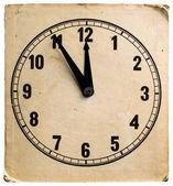 Old cardboard clock — Stock Photo