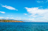Beautiful panorama with cloudscape — Stock Photo
