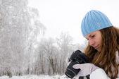 Zimní portrét — Stock fotografie