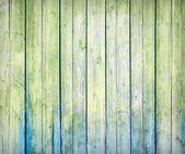 Green weathered plank — 图库照片