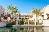 Arabic House with palms in Dubai. — Stock Photo