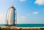 "Hotel Burj Al Arab ""Tower of the Arabs"". — Стоковое фото"
