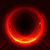 Fiery absract background - fractal — Stock Photo