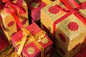 Christmas giftboxes — Stock Photo